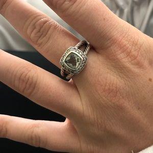 David Yurman Petite Albion Ring- Prasiolite